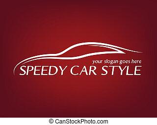 logotipo, calligraphic, automobile