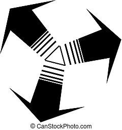 logotipo, cerchio, vettore, zebrato, freccia