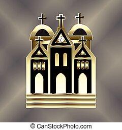 logotipo, chiesa, icona