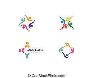 logotipo, comunità