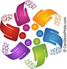logotipo, creativo, disegno, lavoro squadra