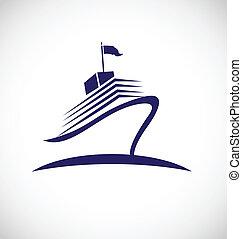 logotipo, crociera, viaggiare