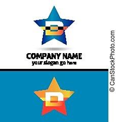 logotipo, d, lettera, icona