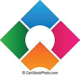 logotipo, disegno, corporativo, sagoma