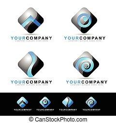 logotipo, disegno, domanda, mobile