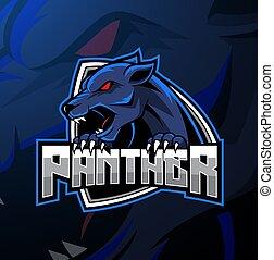 logotipo, disegno, pantera, arrabbiato, mascotte