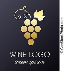 logotipo, disegno, uva, element.