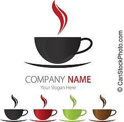 logotipo, ditta, disegno, tazza caffè
