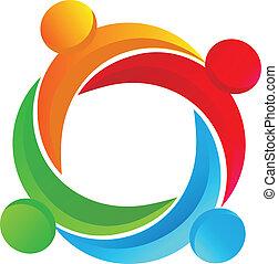 logotipo, diverso, lavoro squadra