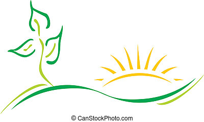 logotipo, ecologia