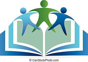 logotipo, educazione, libro