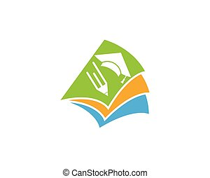 logotipo, educazione, sagoma