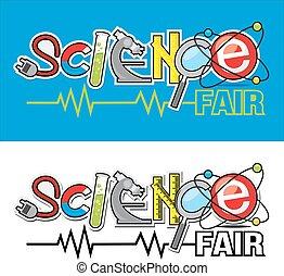 logotipo, fiera, scienza