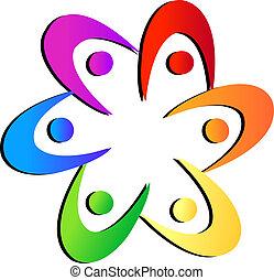 logotipo, fiore, forma, squadra