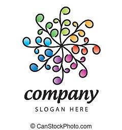 logotipo, fiore