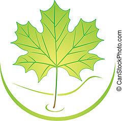 logotipo, foglia