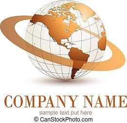 logotipo, globe.