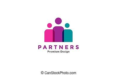 logotipo, grafico, icona, vettore, tre, disegno, simbolo, persone, illustrazione, gruppo, astratto