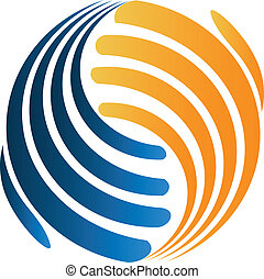 logotipo, handshaking, affari