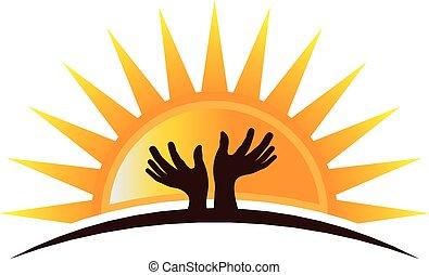 logotipo, hopefulyl, mani