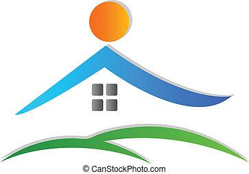 logotipo, icona, casa