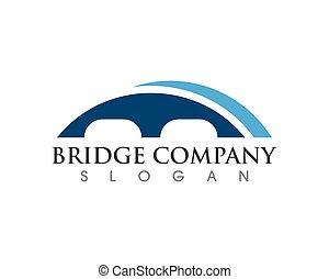 logotipo, icona, vettore, illustrazione, ponte