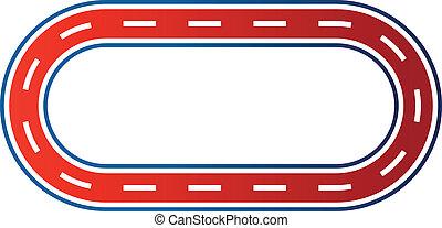 logotipo, immagine, corsa, circuito, ellittico