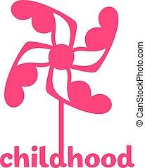logotipo, infanzia