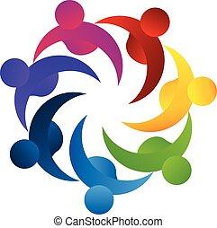 logotipo, lavoro squadra, concetto, affari