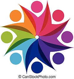 logotipo, lavoro squadra, consoci