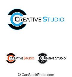 logotipo, lavoro, studio, creativo