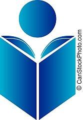 logotipo, lettura