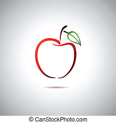 logotipo, mela