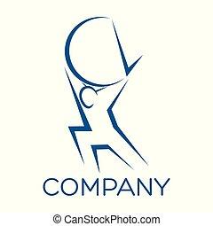 logotipo, moderno, atlante