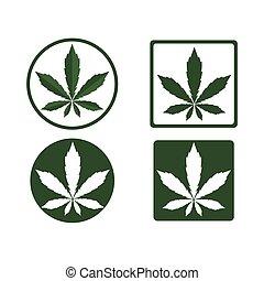 logotipo, natura, foglia, canapa, salute