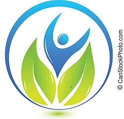 logotipo, natura, salute, persone