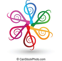 logotipo, note, musicale, variopinto