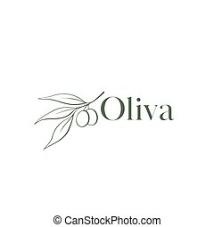 logotipo, oliva