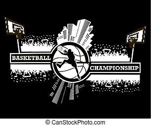 logotipo, pallacanestro, campionato
