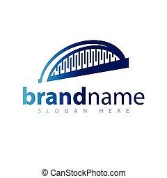 logotipo, ponte, astratto, vettore, icona
