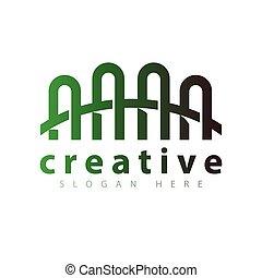 logotipo, ponte, vettore, sagoma, icona