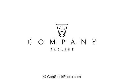 logotipo, porta, base, spazio, condurre, immagine, circle., vettore, luna, astratto