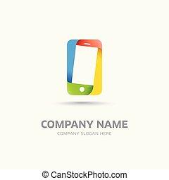 logotipo, sagoma, astratto, mobile, simbolo, telefono