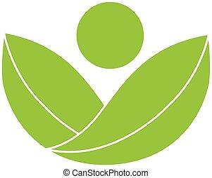 logotipo, salute, verde, natura