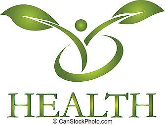 logotipo, sano, vettore, vita