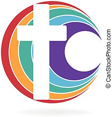 logotipo, simbolo, croce, chiesa