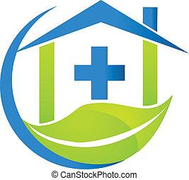 logotipo, simbolo medico, affari, natura