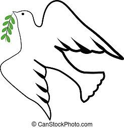 logotipo, simbolo, uccello, spirito santo