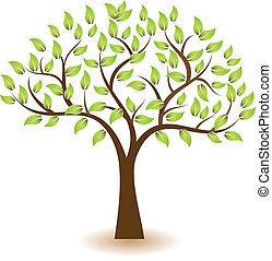 logotipo, simbolo, vettore, albero