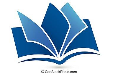 logotipo, simbolo, vettore, libro